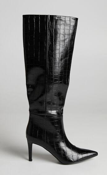 Billini - Bourbon Boots in Black Croc