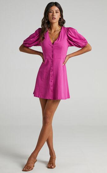 Rochelle Dress in Purple