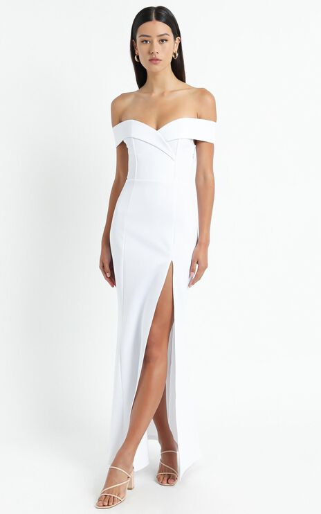 One For The Money Dress In White