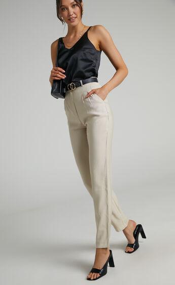 Kinara Full Length Wide Leg Pant in Beige