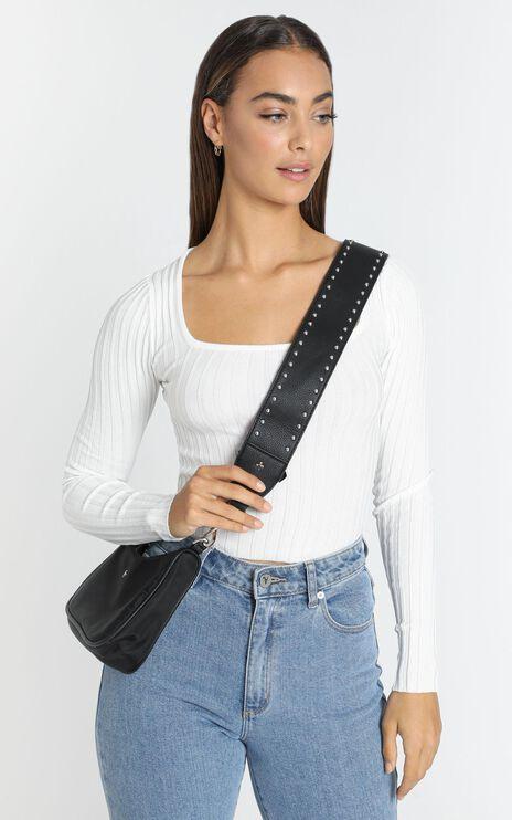 Peta and Jain - Twain Stud Bag Strap in Black
