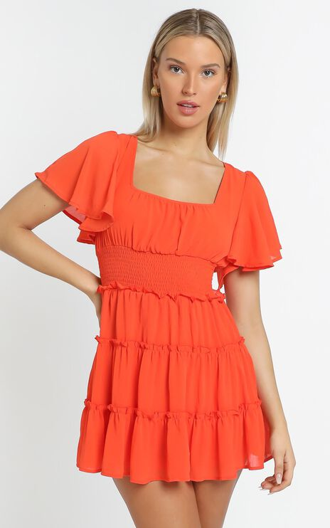 Kelsey Dress in Orange