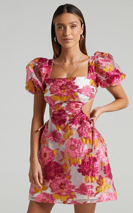 Westley Dress in Pink Floral