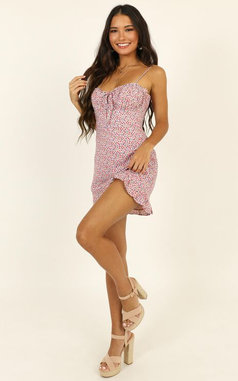 Callie Dress in Pink Floral