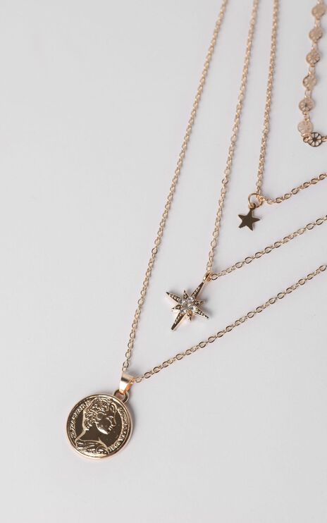 Neptune Layered Necklace in Gold