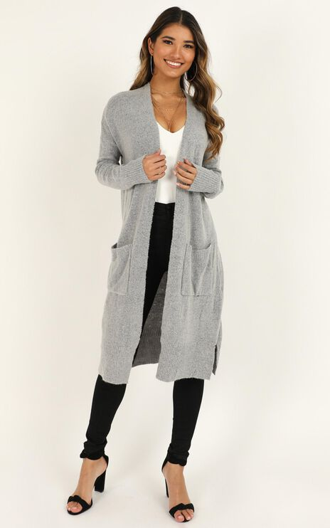 League Of Your Own Cardigan In Grey