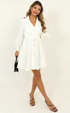 Weekly Planner Dress In White