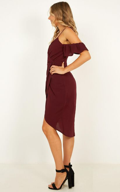 A Fair Go Dress In wine - 20 (XXXXL), Wine, hi-res image number null