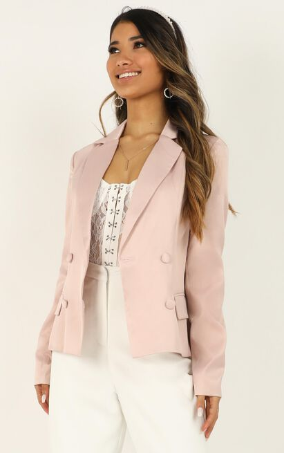 Strike A Pose Blazer in dusty rose - 20 (XXXXL), Pink, hi-res image number null