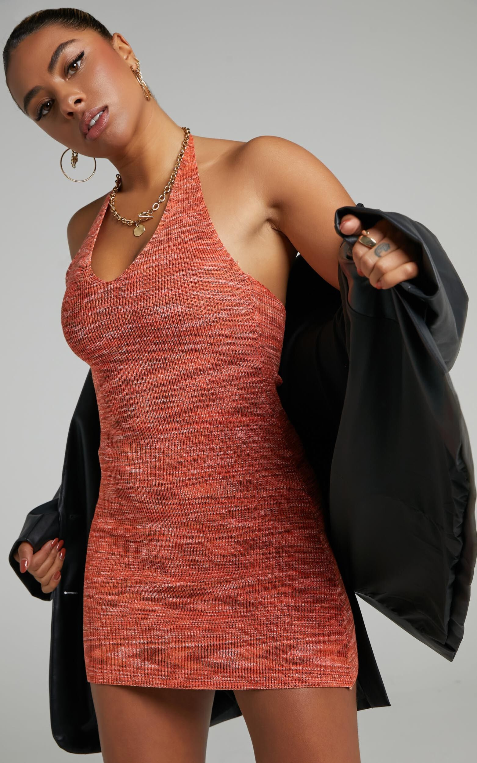 Alexiah Dress in Orange Space Dye - 06, ORG4, super-hi-res image number null