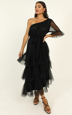 Dont Stop Me Dress In Black Mesh