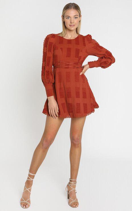 Reverie Dress in Rust