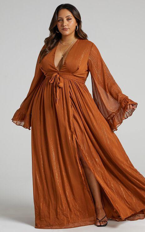 Dangerous Woman Dress In Rust