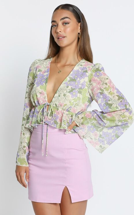 Dance it out top in Garden Floral