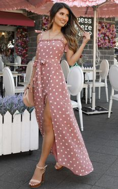 Got To Be Certain Dress In Rose Spot