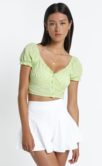 Mellor Top in Lime Floral