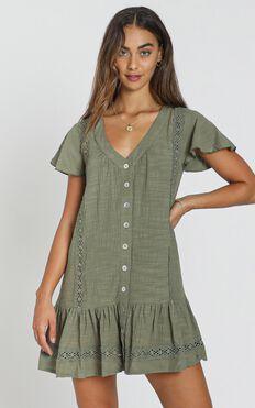 Lulu Dress in olive