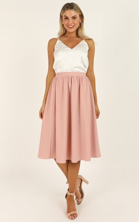 Change Of Pace Skirt In Blush