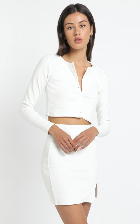Evelyn Two Piece Set in White