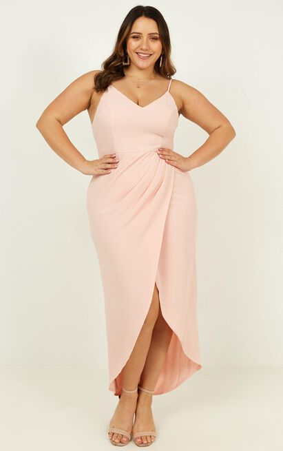 Lucky Day maxi dress in blush - 4 (XXS), Blush, hi-res image number null