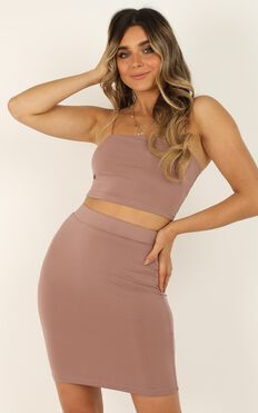 Where To Go Two Piece Set In Mocha