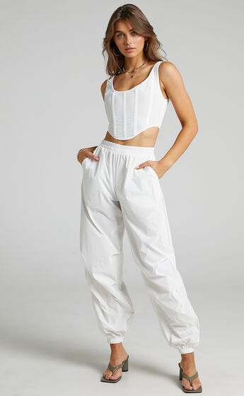 BY DYLN - Franco Pants in White