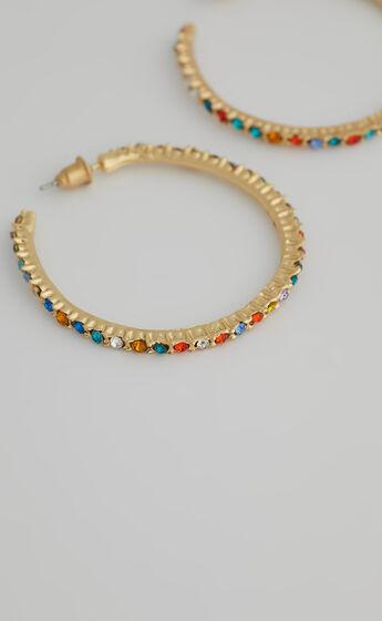 Iris Hoop Earrings in Gold