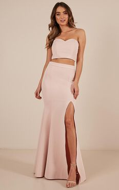 Sweet Delights Two Piece Set In Blush