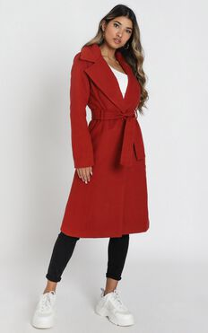 Class Act Trench Coat in Rust