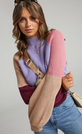 Kensley Long Sleeve Knit Jumper in Multi