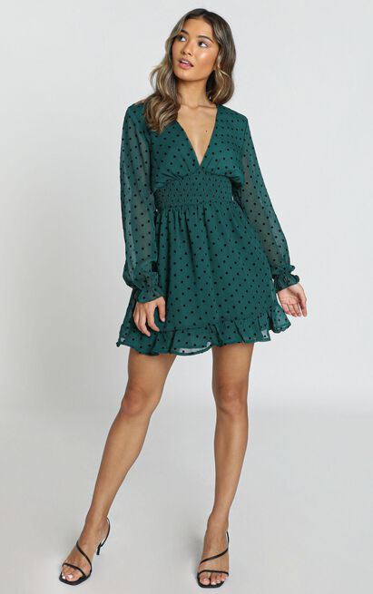 Pretty As You Dress In emerald spot - 20 (XXXXL), Green, hi-res image number null