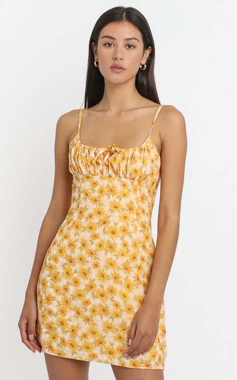 Sunday Session Dress in sunflower print