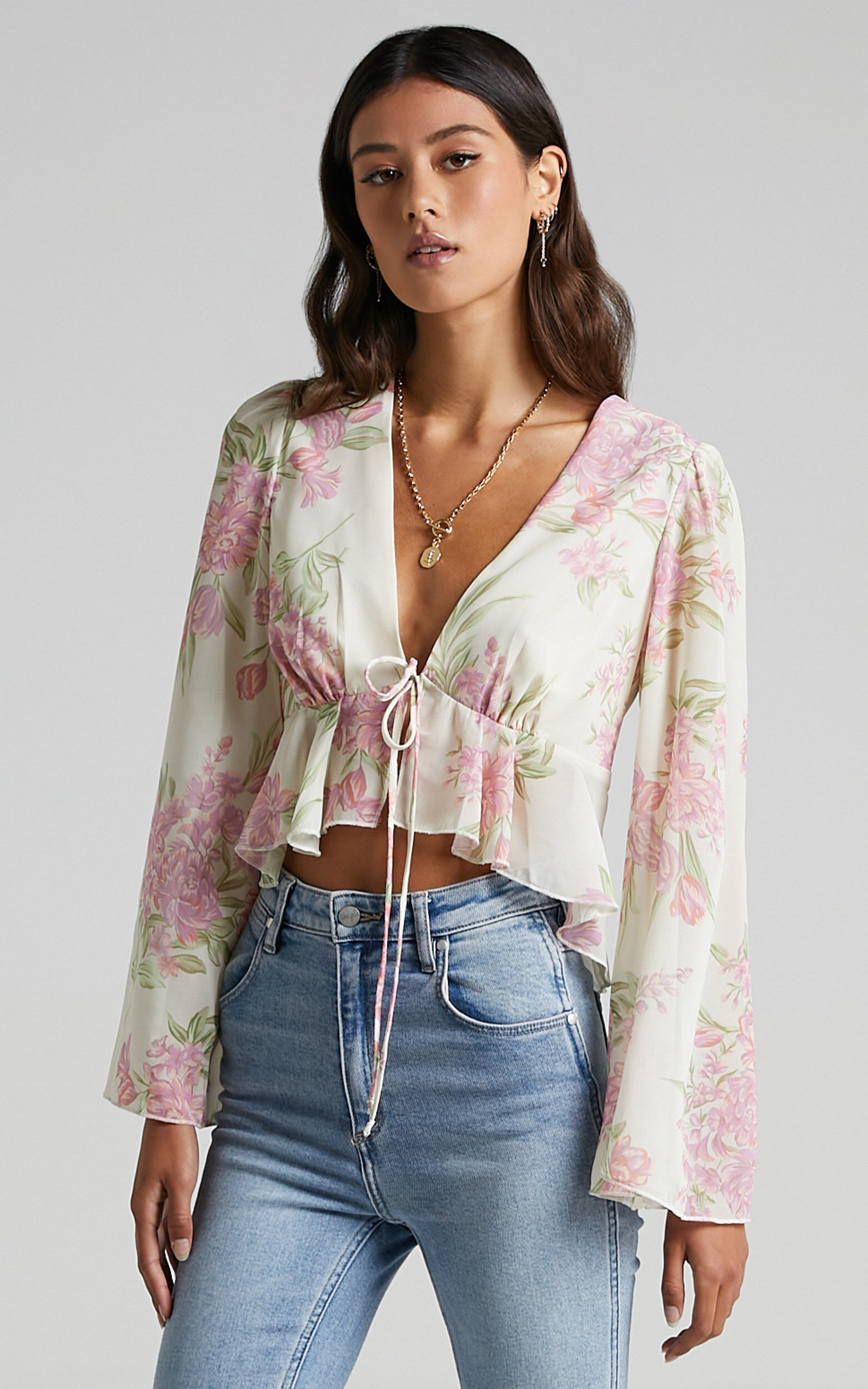 Dance It Out Top in Cream Floral - 6 (XS), Cream, super-hi-res image number null