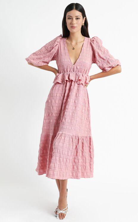 Addilyn Dress in Rose Check