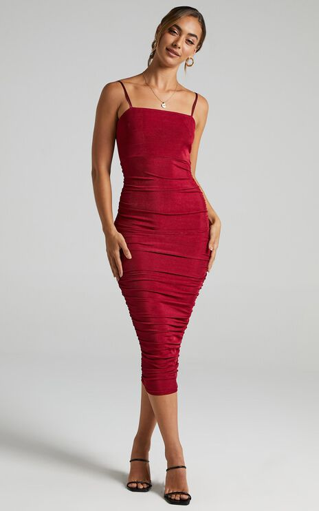 Commit To Me Maxi Dress In Wine