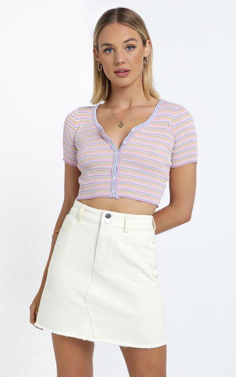 Morris Top in Pink Stripe