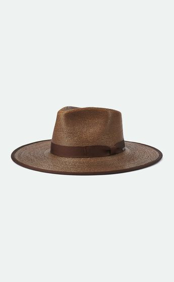 Brixton - Jo Straw Rancher Hat in Brown