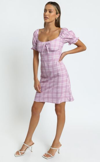 Dahlia Dress in Pink Check