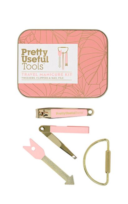 Pretty Useful Tools - Travel Manicure Kit in Sunset Pink, , hi-res image number null