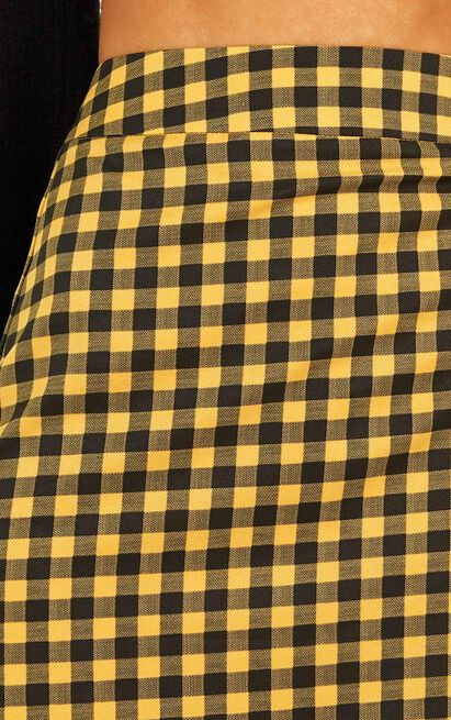 Air For Us In mustard check - 12 (L), Mustard, hi-res image number null