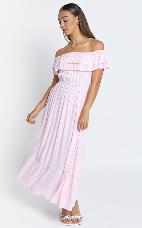 Notre Dame Maxi Dress in Pastel Pink