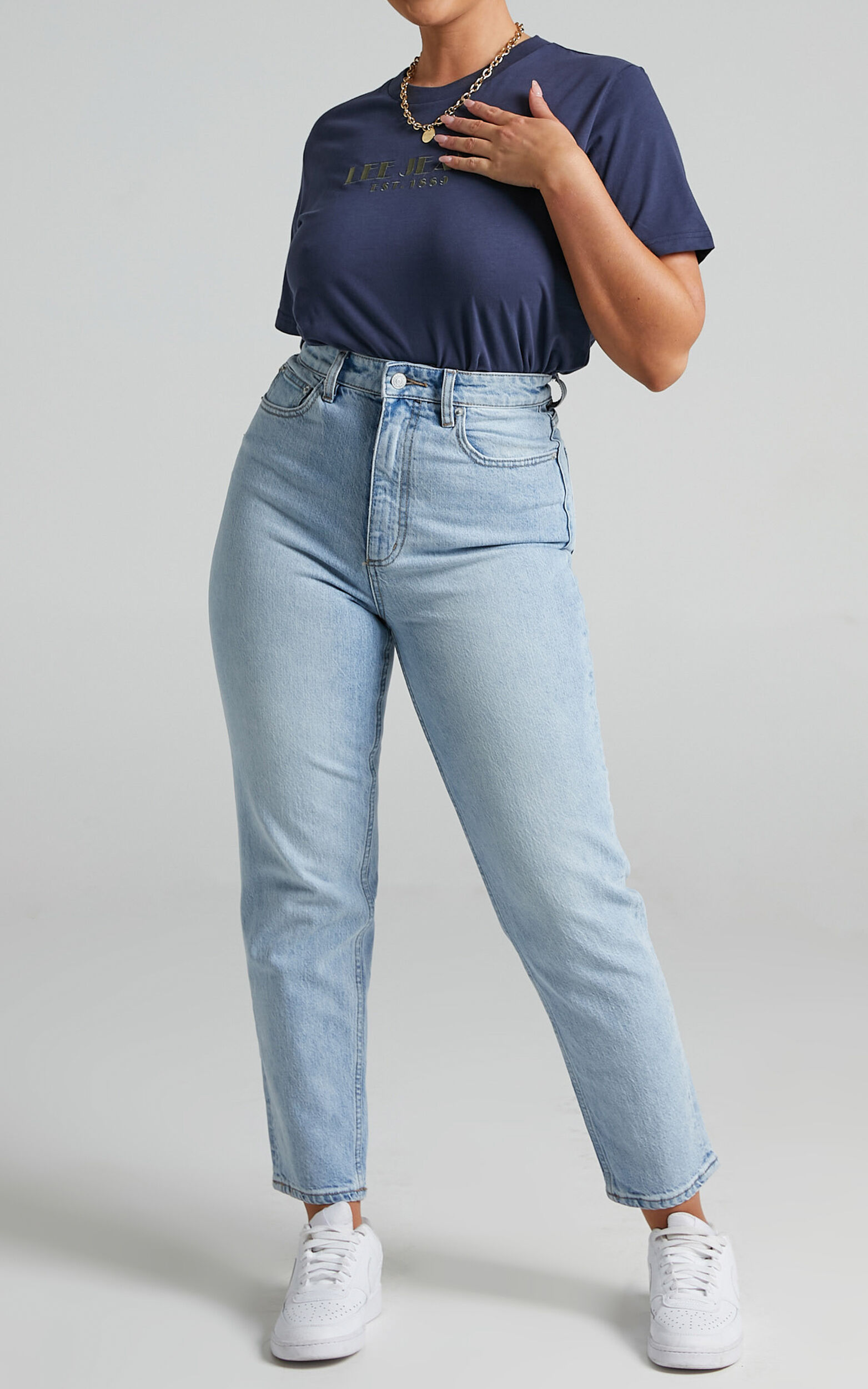 Lee - Hi Mom Jeans in Luminous - 06, BLU1, super-hi-res image number null
