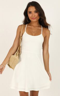 Authenticity Dress In White Rib