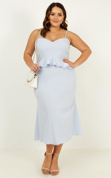 Tuesday Blues Dress In Pale Blue