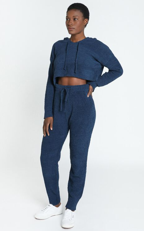 Adelie Super Soft Knit Pants in Navy