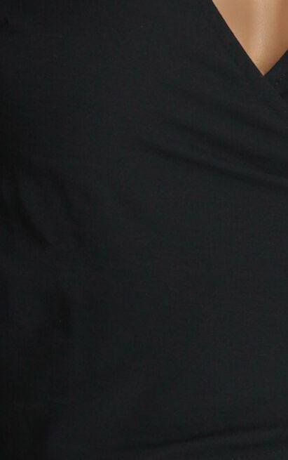 Georgina Wrap Blouse in black - 6 (XS), Black, hi-res image number null