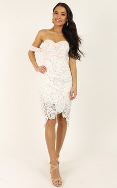 Try It Out Dress In White Lace