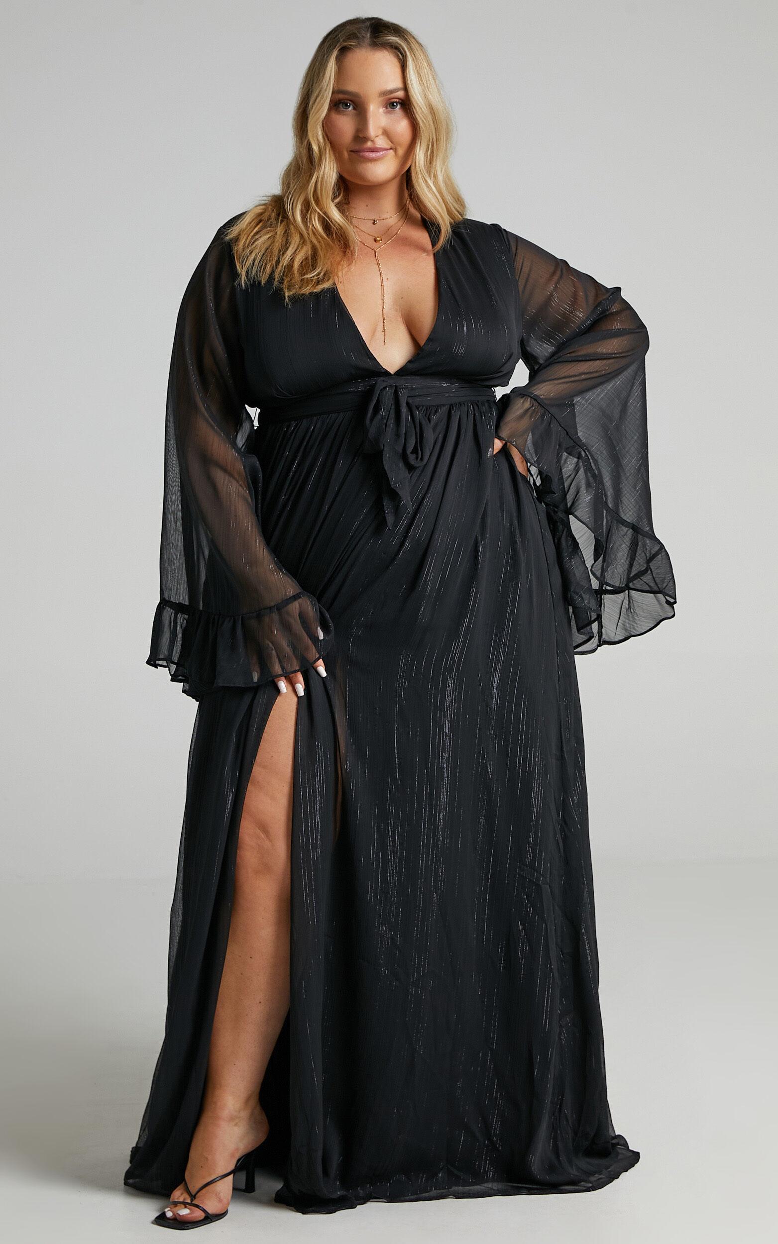 Dangerous Woman Maxi Dress in Black - 06, BLK1, super-hi-res image number null