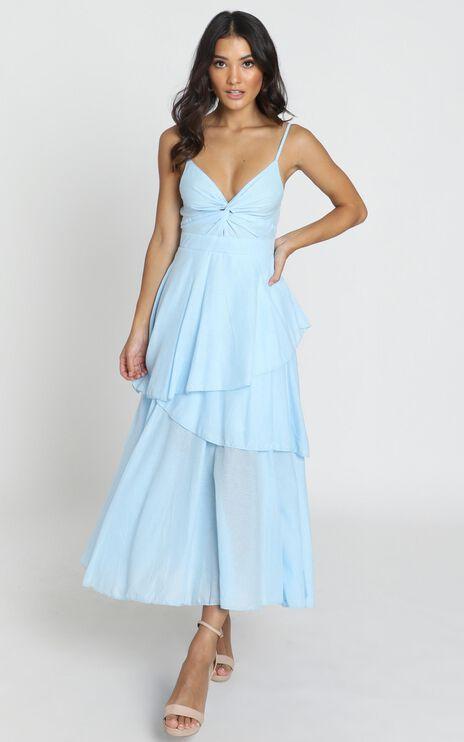 Hibiscus Dress in Powder Blue