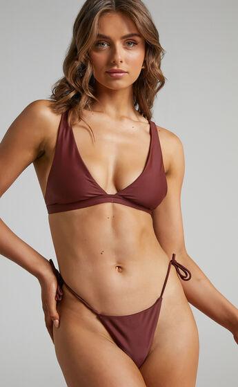 Lei Triangle Bikini Top in Chocolate